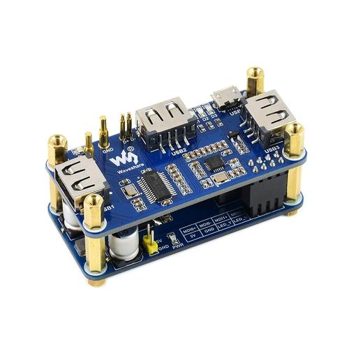 Raspberry Pi Zero用PoE / USBハブ基板