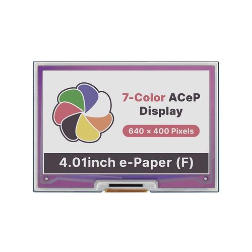 Raspberry Pi用 4.01インチ ACeP 7色e-Paper ディスプレイ 640×400
