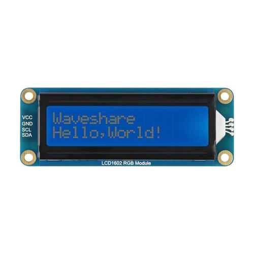 16×2キャラクター LCD  RGBバックライト 3.3V/5V I2C接続