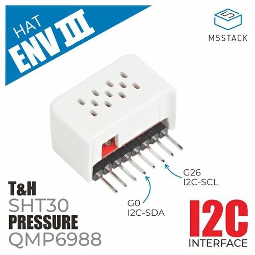 M5StickC ENV Hat III (SHT30/QMP6988)