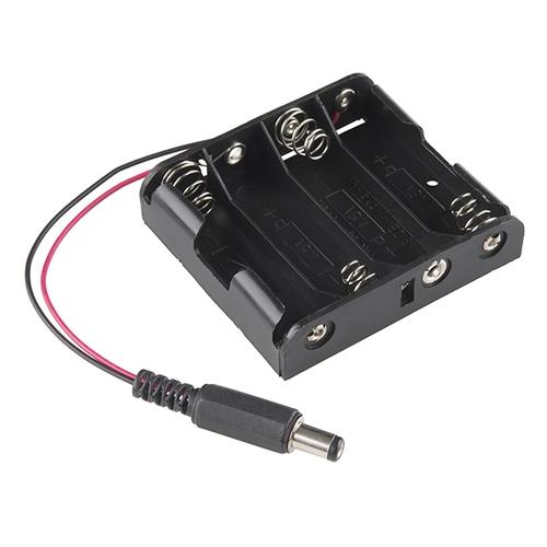 単三電池4本 DCバレルジャック出力 電池ボックス