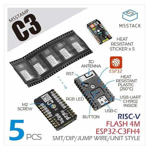M5Stamp C3 (5pcs)