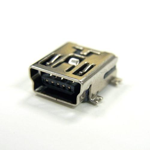 USB-Mini-Bコネクタ(SMT,メス)4+1個パック--販売終了
