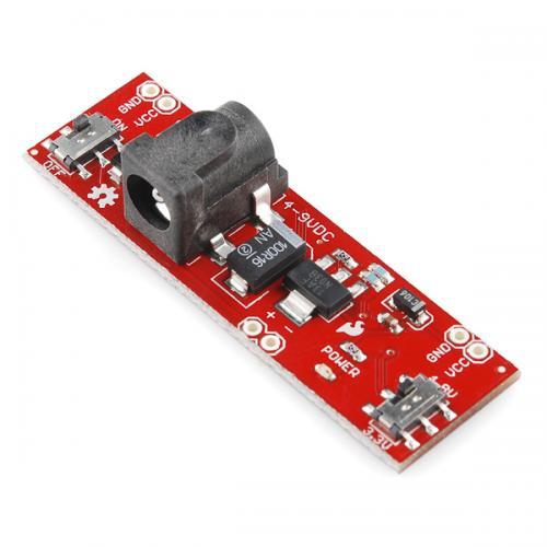 ブレッドボード用電源ボード3.3V/1.8V切り替え式  --販売終了