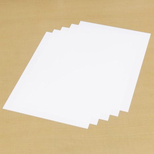ポリプロピレン合成紙A4版150μm厚5枚セット(クリームハンダステンシル用)